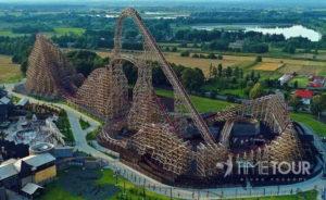 Wycieczka firmowa do Energylandii - drewniany rollercoaster Zadra