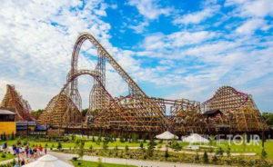 Wycieczka firmowa do Energylandii - Zadra drewniany coaster