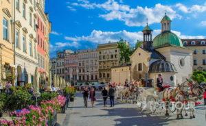Wycieczka firmowa do Krakowa - Rynek Główny i kościół św. Wojciecha