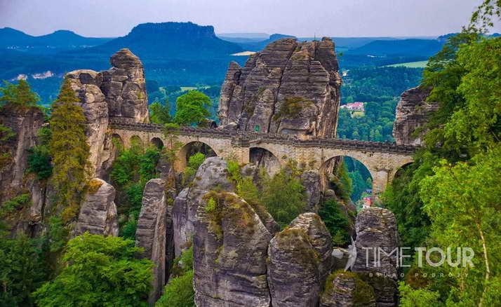 Wycieczka firmowa do Saksonii Szwajcarskiej - rezerwat Bastei
