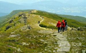 Wycieczka szkolna w Beskidy - szlak turystyczny