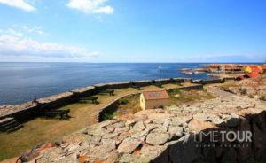 Wycieczka szkolna na Bornholm - ruiny zamku Hammershus