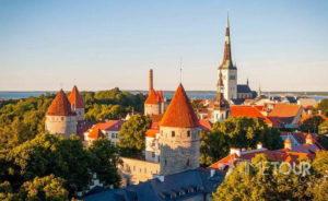 Wycieczka szkolna do Tallina - panorama Starego Miasta