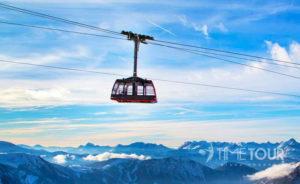 Wycieczka szkolna do Francji - kolej linowa na Mount Blanc