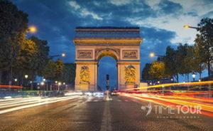 Wycieczka szkolna do Paryża - Pola Elizejskie i łuk triumfalny
