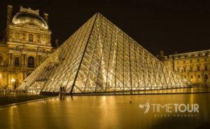 Wycieczka szkolna do Paryża - Luwr piramida