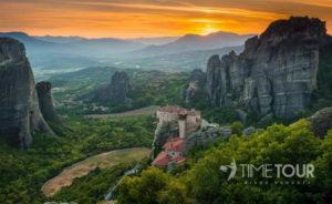 Wycieczka szkolna do Grecji - Meteory panorama