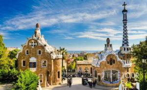 Wycieczka szkolna do Barcelony - mozaiki w Parc Guell
