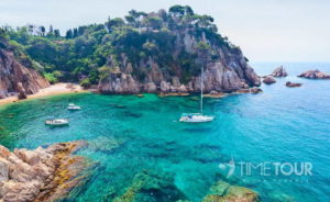 Wycieczka szkolna do Hiszpanii - zatoka na Costa Brava