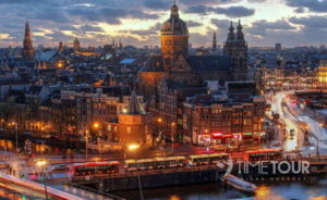 Wycieczka szkolna do Amsterdamu - panorama