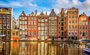 Wycieczka szkolna do Amsterdamu - zabytkowe kamienice