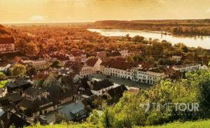 Wycieczka szkolna do Kazimierza Dolnego - panorama miasta