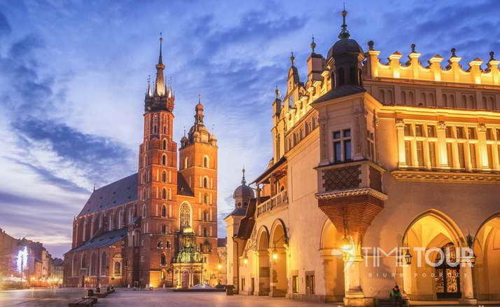 Wycieczka szkolna do Krakowa - Sukiennice i kościół Mariacki