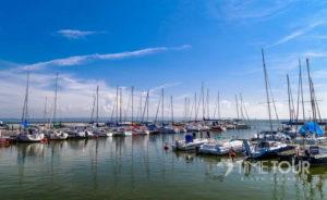 Wycieczka szkolna do Krynicy Morskiej - port jachtowy