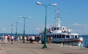 Wycieczka szkolna do Krynicy Morskiej - port nad Zalewem Wiślanym