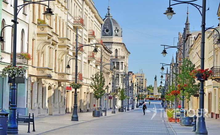 Wycieczka szkolna do Łodzi - ulica Piotrkowska