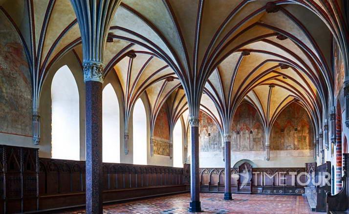 Wycieczka szkolna do Malborka - wnętrza zamku