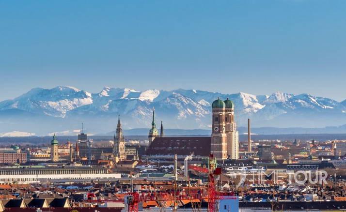 Wycieczka szkolna do Monachium - panorama miasta i Alpy