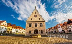 Wycieczka szkolna na Słowację - Rynek w Bardejowie
