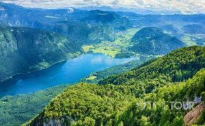 Wycieczka szkolna do Słowenii - panorama Alp