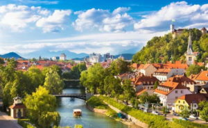 Wycieczka szkolna do Słowenii - panorama Lublany