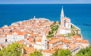Wycieczka szkolna do Słowenii - panorama Piranu