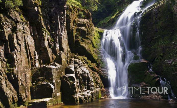 Wycieczka szkolna do Szklarskiej Poręby - wodospad Kamieńczyka
