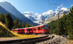 Wycieczka szkolna do Szwajcarii - Kolej Retycka