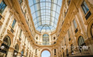 Wycieczka szkolna do Włoch - galeria Vittorio Emanuele II w Mediolanie