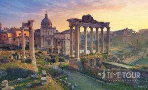 Wycieczka szkolna do Włoch - Forum Romanum w Rzymie