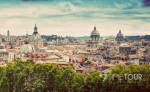 Wycieczka szkolna do Włoch - panorama Rzymu