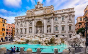 Wycieczka szkolna do Rzymu - fontanna di Trevi