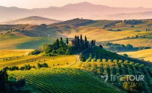 Wycieczka szkolna do Włoch - krajobraz Toskanii