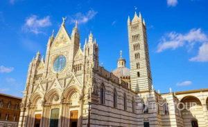 Wycieczka szkolna do Włoch - katedra w Sienie w Toskanii