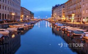 Wycieczka szkolna do Włoch - port w Trieście
