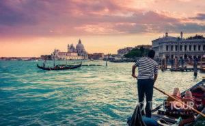 Wycieczka szkolna do Wenecji - gondole