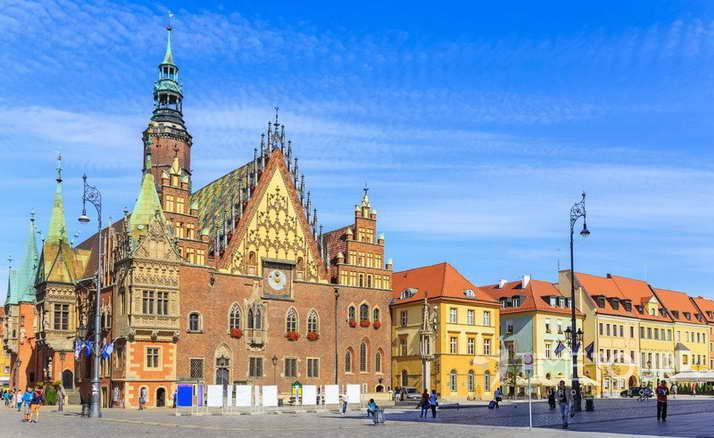 Wycieczka szkolna do Wrocławia - ratusz i rynek