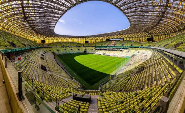 Wycieczka szkolna do Gdańska - stadion Arena trybuny