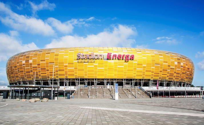 Wycieczka szkolna do Gdańska - stadion Arena z zewnątrz